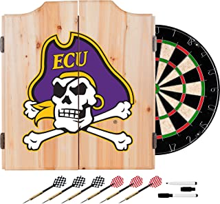 NCAA East Carolina University Wood Dart Cabinet Set