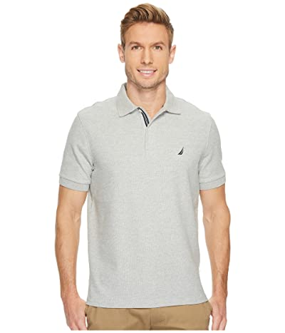 Nautica S/S Solid Polo With Tape (Grey Heather) Men