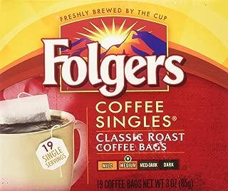 Folgers Coffee Singles Classic Roast-19 Coffee Bags