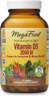 MegaFood - DailyFoods Vitamin D-3 Bioactive Form 2000 IU - 90 Vegetarian Tablets