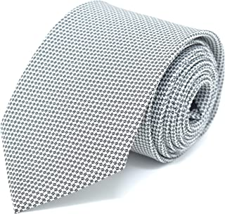 Kanthlangot Block Printed Polyester Grey Tie