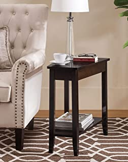 2L Lifestyle Harbor Modern Wedge Side End Table,Brown