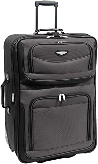 """Amsterdam 29"""" Expandable Rolling Upright Luggage, Gray"""