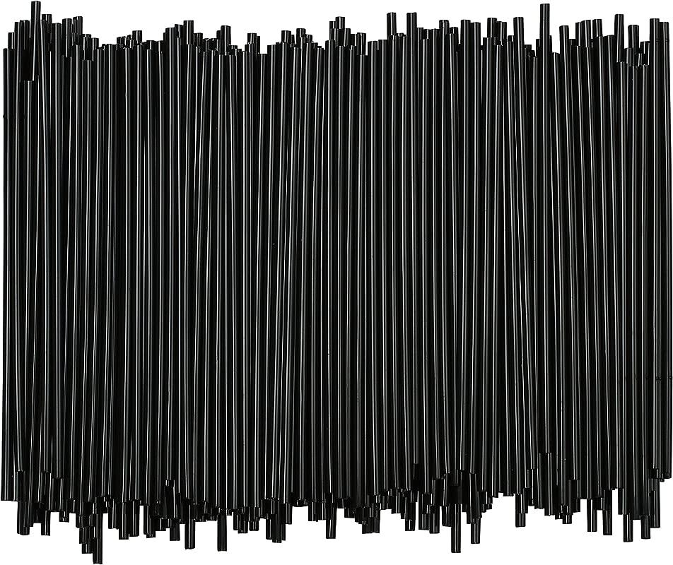 Disposable Plastic Coffee Stirrer Straw 5 Inch Sip Stir Stick Black 1 000