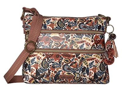 Sakroots Artist Circle Basic Crossbody (Clay Enchanted Forest) Cross Body Handbags