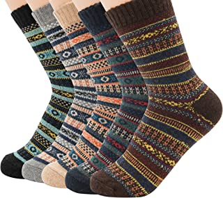 Mens Warm Thick Socks Cozy Wool Sock Comfort Mid Calf...