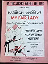 On The Street Where You Live. (Sheet Music) My Fair Lady Original Broadway Cast Cover Art