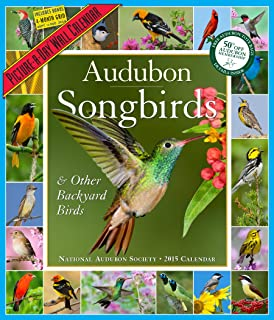 Audubon Songbirds & Other Backyard Birds Calendar 2015
