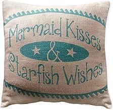 Small Mermaid Kisses Pillow (8x8