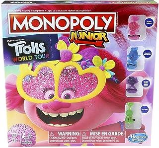 مونوبولي للصغار: لعبة طاولة للاطفال اصدار دريم ووركس ترولز وورلد تور من سن 5 سنوات فما فوق