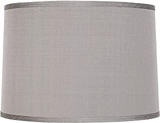 Platinum Gray Dupioni Lamp Shade 15x16x11 (Spider) - Brentwood