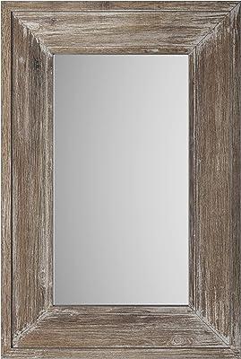 Easy-Care Mirror for Hallway /& Wardrobe High Gloss White Life Wall Mirror 92 x 67 x 2 cm W x H x D