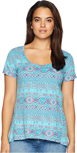 Stamped Geo Luna Top