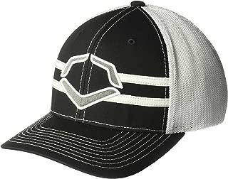 Wilson Sporting Goods Evoshield Grandstand Flexfit Hat, Black/White, Large/X-Large(7 3/8 - 7 5/8)