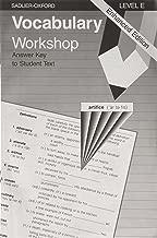 Vocabulary Workshop: Level E, Answer Key to Student Text, Enhanced Edition