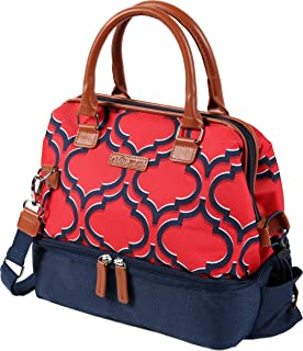 Arctic Zone 1528AMPR0429 Thermal Insulated Lunch Tote, 2 Compartments - Red