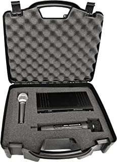Casematix Wireless Microphone System Hard Case with Customizable Foam Fits Sennheiser , Shure , Audio-Technica , Nady , VocoPro , AKG , Receivers , Transmitters and Mics