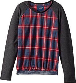 Toobydoo - Fancy Flannel Sweatshirt w/ Sparkle Belt (Toddler/Little Kids/Big Kids)