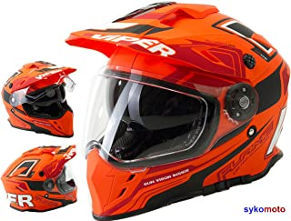 Viper Moto RX-V288 MOTOCROSS HELM OFF ROAD ECE GENEHMIGT INTEGRAL ERWACHSENE QUAD ATV ORANGE M 57-58 CM