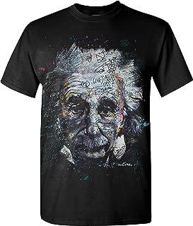 Albert Einstein - It's All Relative - Adult T-Shirt (Large ,Black)