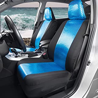 BDK FreshProtect Mystic Mermaid Sideless Fun Graphic All Protective Front Seat Covers for Auto Cars -Sedan Truck SUV Minivan - Non Fade - Universal 2 Piece