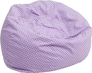 Flash Furniture Oversized Lavender Dot Bean Bag Chair