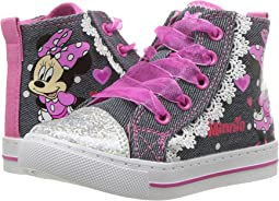 Josmo Kids Minnie Denim & Lace High Top (Toddler/Little Kid)