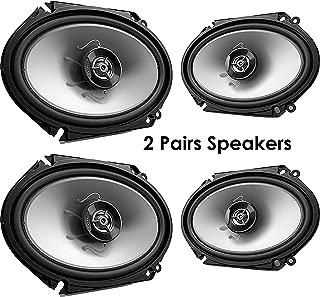 Kenwood 1 X 4 New kenwood kfc-c6865s 6x8 500 watt 2-Way car Audio coaxial Speakers Stereo