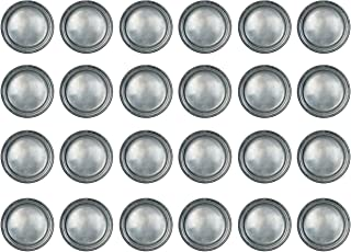 """Beistle 24 Piece All Occasion Disposable Pewter Paper Plates Medieval Party Supplies – Pirate And Halloween Tableware, 9"""""""