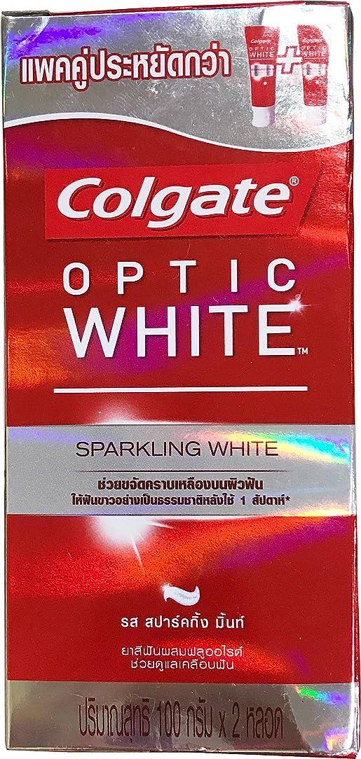テキストバウンド負荷(コルゲート)Colgate 歯磨き粉 「オプティック ホワイト 」 (スパークリングホワイト) 2本セット