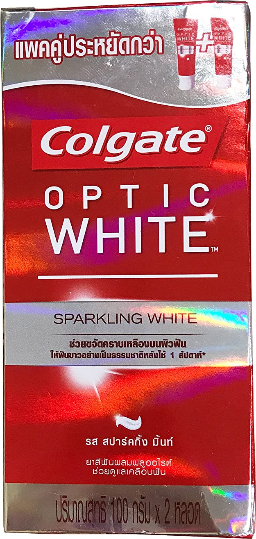 インテリア僕の祈る(コルゲート)Colgate 歯磨き粉 「オプティック ホワイト 」 (スパークリングホワイト) 2本セット