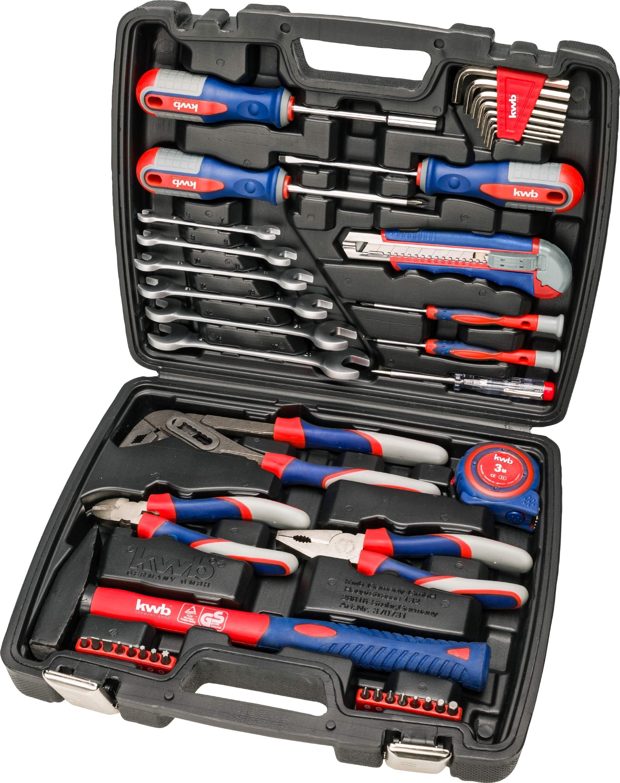 kwb 370733 Maletín de herramientas con puntas de atornillar, 42 piezas, relleno, resistente y de alta calidad, ideal para el hogar o el garaje, certificado GS, Blowmould-Koffer: Amazon.es: Bricolaje y herramientas