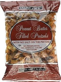 2--Trader Joe's Peanut Butter Filled Pretzels with No Salt on the Pretzel