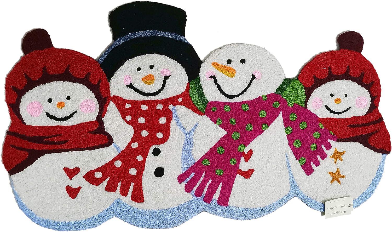 SDX Christmas Door Mat Welcome Personalized Han Doormat Finally resale start Ranking TOP17 Cute