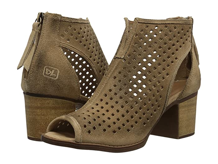 Dirty Laundry  Tessa Peep Toe Bootie (Camel) Womens Dress Lace-up Boots