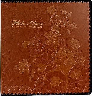 زیبایی عکس آلبوم کتاب، آلبوم خانوادگی، جلد چرم، حاوی 3x5، 4x6، 5x7، 6x8، 8x10 عکس (براون، M)