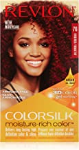 Revlon Colorsilk Moisture Rich Hair Color, Vivid Red No. 76, 1 Count