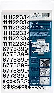 Best Chartpak Self-Adhesive Vinyl Numbers, 1/2 Inch High, Black, 210 per Pack (01110) Review