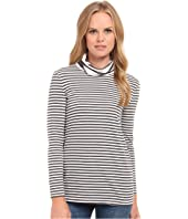 Three Dots - Bracelet Sleeve Stripe Turtleneck
