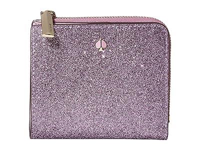 Kate Spade New York Burgess Court Small Bifold Wallet (Lilac) Wallet Handbags