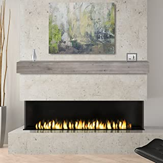Pearl Mantels 492-48-WEATHER Fireplace Mantel Shelf, 48-Inch, Weathered Gray