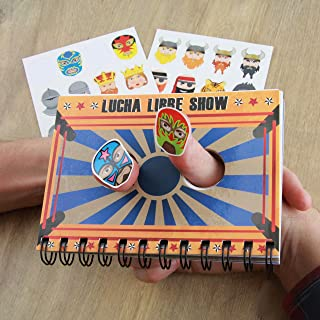 Thumb Wars - Notebook & Sticker Set - Thumb War Game with 6 Different Scenes and 32 Masks