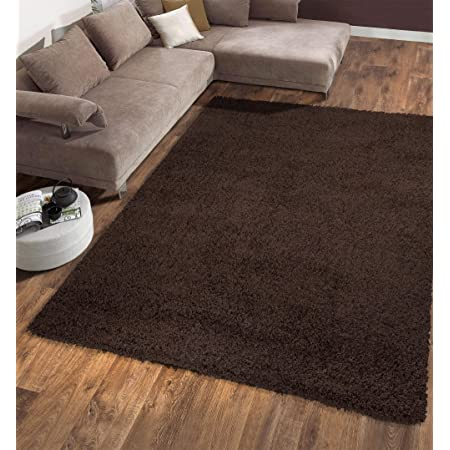 Ottomanson Shg2768 5x7 Solid Shag Rug 5 3 X 7 Brown Furniture Decor