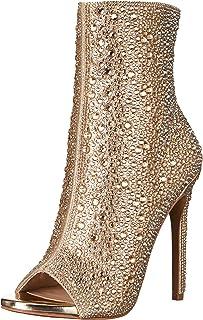 حذاء برقبة حتى الكاحل للنساء من Steve Madiden، ذهبي، 8
