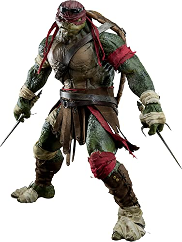 Teenage Mutant Ninja Turtles Raphael Ma ab 1 6 S & PVC & Pom bemalt Action figurethreezero
