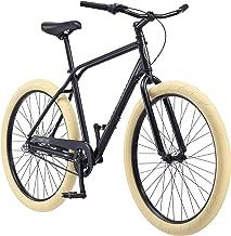 Schwinn Phantom Urban Cruiser Bike, Featuring 18-Inch/Medium or 19.5-Inch/Large Retro Double-Top Tube Aluminum Frame, Internal 3-Speed Drivetrain, Rear Coaster Brake, and 27.5-Inch Tires, Black