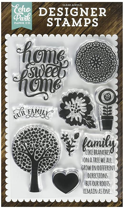 Echo Park Paper Company Family Home Stamp