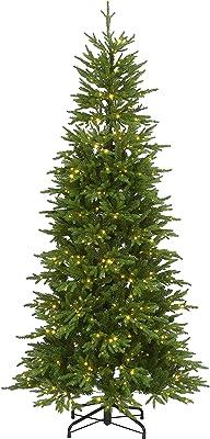 National Tree Company Slim Tree, 7.5 ft, Green