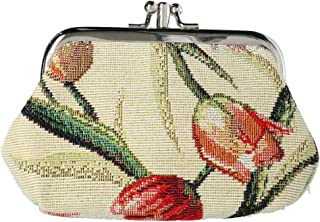 Women's Tulip Print Tapestry Coin Purse Wallet