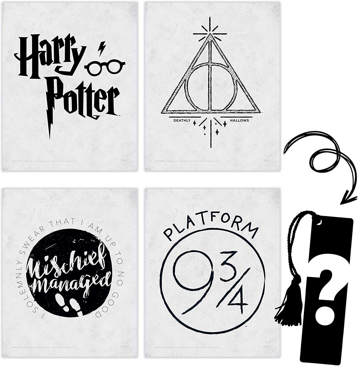 TRENDYPRINT – Fixed price 5% OFF for sale Harry Potter Symbols Ha Deathly